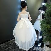 女童夏裝新款蓬蓬紗連身裙童裝禮服小女孩裙子兒童洋氣公主裙 中秋節