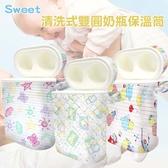 ~Sweet ~外銷美國、德國、澳洲暢銷款可清洗式雙圓奶瓶保溫筒601 1 附內膽x1 入