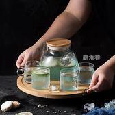 茶壺 加厚玻璃日式透明花家用花草茶具套裝下午茶具加熱器含托 鹿角巷