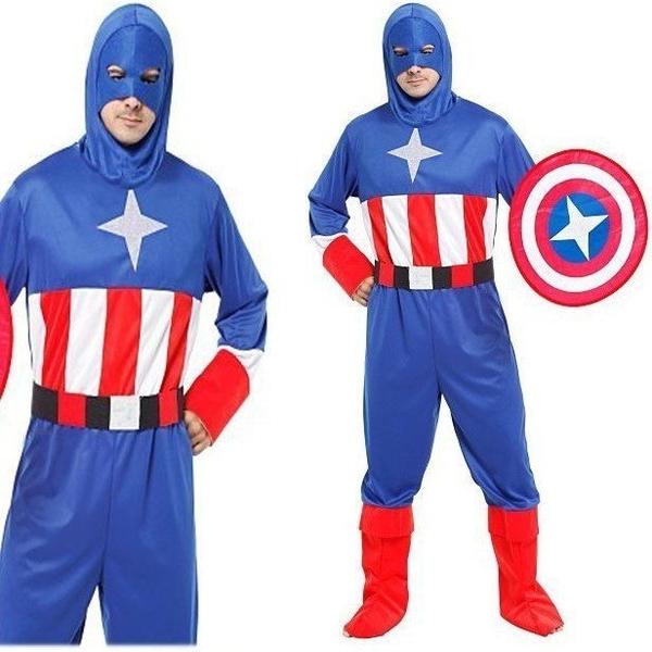 大人星星美國戰士服裝 隊長衣服萬聖節服裝,聖誕節服飾,變裝派對 美國復仇者聯盟cosplay