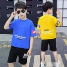 男童套裝 男童夏款套裝兒童新款中大童休閒韓版男生夏季童裝純棉兩件套 韓菲兒