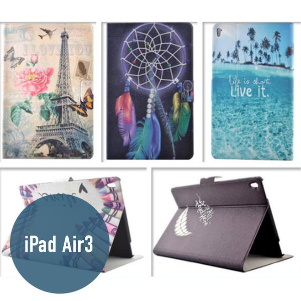Apple iPad Air3 彩繪皮套 側翻皮套 平板套 平板殼 保護套 可愛 卡通 皮套