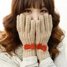 針織手套女 潤穎季新品毛線可愛甜美女士加厚韓版針織羊純羊毛手套 快速出貨