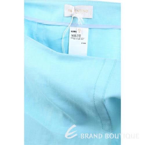 VALENTINO 水藍色抓褶及膝裙 0530027-23