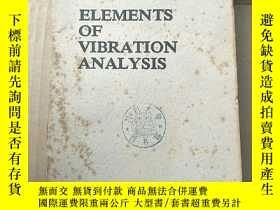 二手書博民逛書店elements罕見of vibration analysis(P1028)Y173412