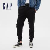 Gap男裝 簡約風格純色寬鬆式針織褲 608027-純正黑色