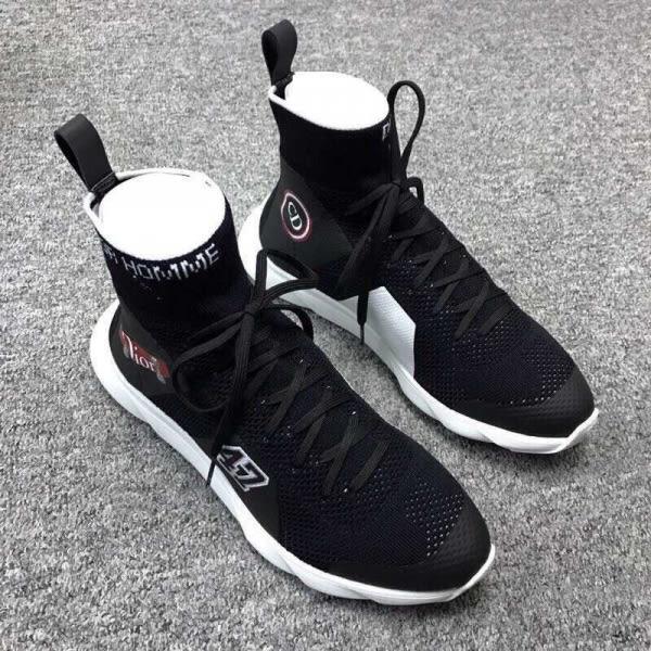 ■2019新品■Dior Homme 男款高科技纖維圖騰襪子運動鞋