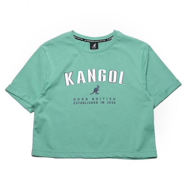 KANGOL 短T 短版T 淺綠 胸前大英文LOGO 年份 女 (布魯克林) 6122100671