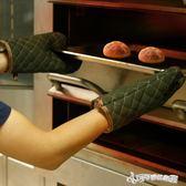 加厚微波爐廚房烤箱專用手套隔熱蒸汽耐高溫防燙手套純棉烘焙家用  Cocoa