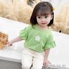 女童短袖T恤2021新款大童衣服韓版小雛菊夏裝上衣夏季女裝打底衫 小艾新品