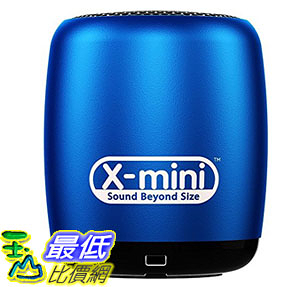 [8美國直購] 音箱 X-Mini CLICK Portable Bluetooth Speaker with Shutter Remote - Blue