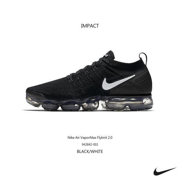 1f84f4424878 IMPACT Nike Air VaporMax Flyknit 2.0 黑白氣墊編織慢跑942842-001 ...
