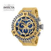 【INVICTA】海克力士 典腕錶 53mm - 金色銀鍊圈