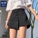 牛仔短褲女2020新款高腰外穿寬鬆闊腿熱褲韓版黑色褲裙假兩件潮夏 陽光好物