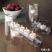 玻璃燭臺 蠟燭 歐式浪漫婚禮酒店餐廳 BS21677『毛菇小象』