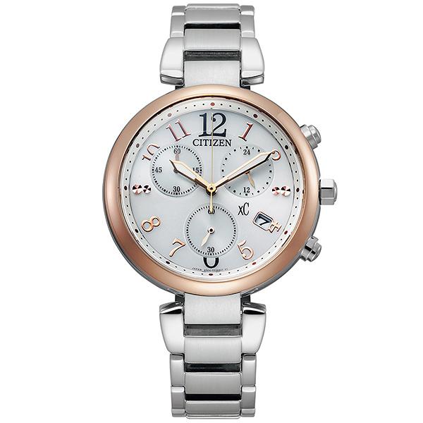 【台南 時代鐘錶 CITIZEN】星辰 xC 光動能 優雅情人廣告款腕錶 FB1454-52A 銀色 35mm 亞洲限定