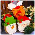 《不囉唆》聖誕_卡通雙面手提袋 雪人/聖誕樹/聖誕節/交換禮物/擺飾(可挑色/款)【A425813】