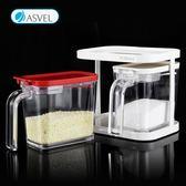 日本asvel調料盒 調味盒 調料罐 鹽罐調味瓶家用廚房用品組合套裝 挪威森林