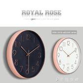 掛鐘靜音客廳創意臥室歐式鐘錶北歐家用時鐘掛錶圓形  伊鞋本鋪