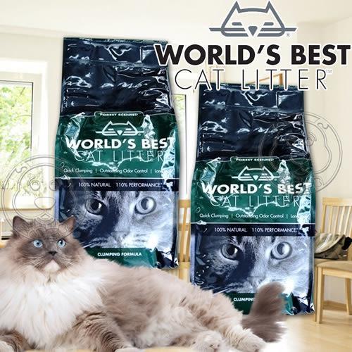 【zoo寵物商城】World''s Best世嘉》強效凝結配方玉米貓砂森林花草香-12磅5.44kg/包