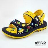 GP 阿亮代言 玩水 快速磁扣 兒童兩用涼鞋 - 黃色 G8680B