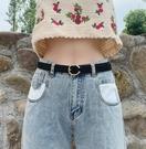 皮帶女簡約百搭韓國韓版學生復古ins風裝飾黑色女牛仔褲褲腰帶細 台北日光