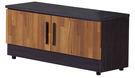 【森可家居】尚恩2.7尺雙色座鞋櫃(門內二層) 7JF294-3 木紋質感 北歐工業風