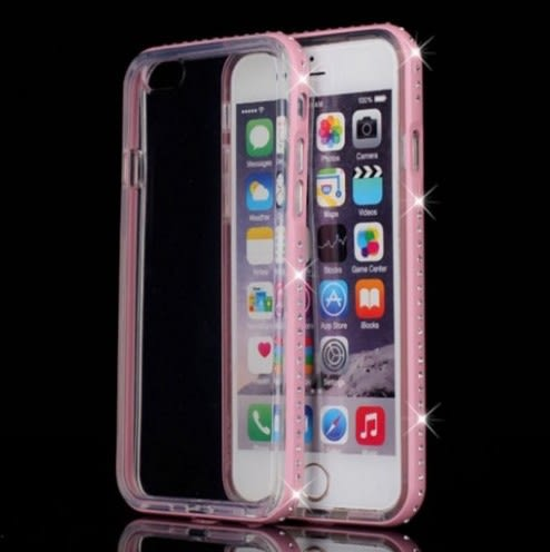 [24hr 火速出貨] iPhone6 6s iPhone se 5s 手機殼 蘋果 烤漆 金屬 金屬邊框 水晶鑽 TPU 奢華 時尚