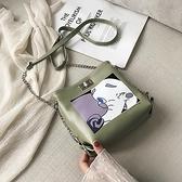 可愛鏈條小包包女2021夏天新款韓版百搭少女斜挎時尚單肩包 「雙11狂歡購」
