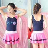 連體游泳衣少女裝學生韓版大童