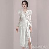 晚禮服白色晚禮服新款女名媛宴會會氣質生日小禮服連身裙平時可穿【凱斯盾】