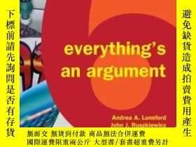 二手書博民逛書店Everything s罕見An ArgumentY364682 Andrea A. Lunsford Bed