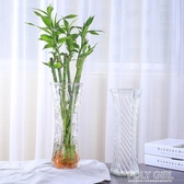 花瓶 簡約玻璃花瓶六角透明大號水培富貴竹百合鮮花插花瓶桌面家用客廳 polygirl