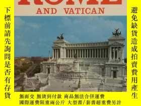 二手書博民逛書店建築、歷史、藝術、文明:羅馬與梵蒂岡罕見全綵畫冊 Rome an