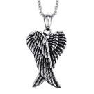 《QBOX 》FASHION 飾品【CPN-502】精緻個性復古天使之翼鑄造鈦鋼墬子項鍊/掛飾