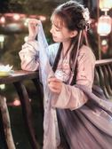 漢服 櫻花漢服超仙古風日常裝女齊胸襦裙古裝女仙女飄逸清新淡雅 歐萊爾藝術館
