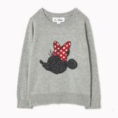 Gap女幼Gap x Disney迪士尼系列舒適米妮織紋圓領毛衣499772-米妮老鼠圖案