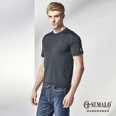 【ST.MALO】MIT 歐盟認證瑞士Sanitized防蚊吸排男上衣-1719MT-晶鑽黑