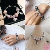 韓國轉運珠琉璃珠水晶石榴石森系閨蜜學生手鏈手串女蛇骨鏈