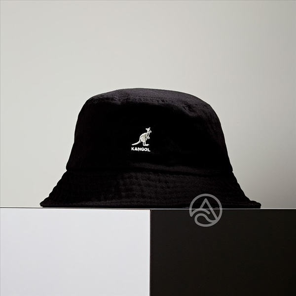 KANGOL Washed Bucket 黑色 漁夫帽 100169215-01