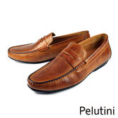 【Pelutini】經典時尚樂福鞋 咖啡(7807-BR)