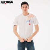 Big Train 雷神櫻花圓領短袖-男Z80170(領劵再折)