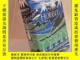 二手書博民逛書店霍比特人80周年盒裝紀念版罕見珍藏初版 英文原版書籍 Hobbit Facsimile First Edition