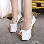 夜店恨天高女鞋18CM/20公分超高跟涼鞋 粗跟舞臺演出鞋車模走秀鞋 完美情人