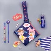 [現貨] 可愛卡通棒棒糖皮革手拎包 收納包 手拿包