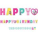 迪士尼 佈置 裝飾 生日字串1入(附歲數)-米妮快樂幫手