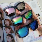 2018春夏新款復古柳釘墨鏡潮個性韓版男女時尚太陽鏡司機開車眼鏡