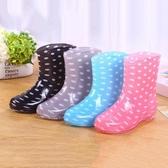雨鞋 成人防水鞋防滑雨鞋雨靴膠鞋果凍套鞋水靴女短筒廚房工作時尚夏季