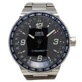 ORIS 黑色面盤不銹鋼機械錶 F1-GMT 【二手名牌 BRAND OFF】