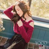 東京著衣【YOCO】甜美微性感露肩設計毛海上衣-S.M.L(172475)